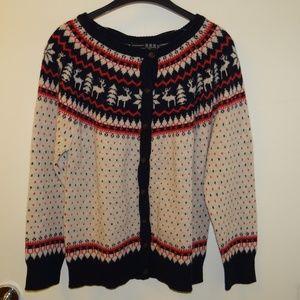 Fair Isle Norwegian cardigan nwt size 14 Primark